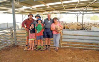 Leon, Margaret and Luke Casgrove win at Ewe Comp 2020